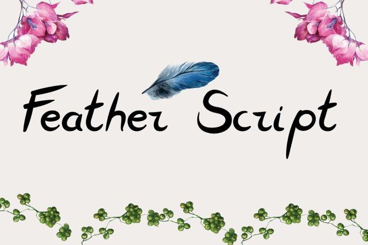 feather-script-font