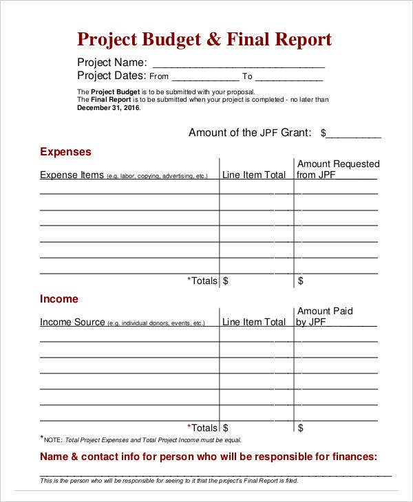 Budget Report Templates   Free Word Pdf Format Download