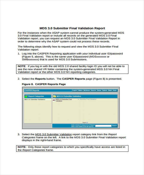 final validation report