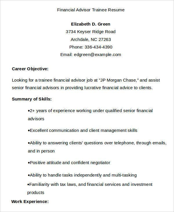 finance resume samples 23 free word pdf documents download free