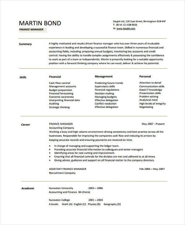 Office Manager Resumes  Free Word Pdf Format Download  Free