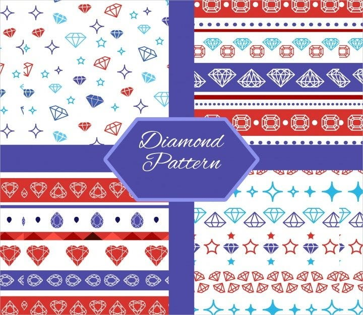 flat collection diamond pattern