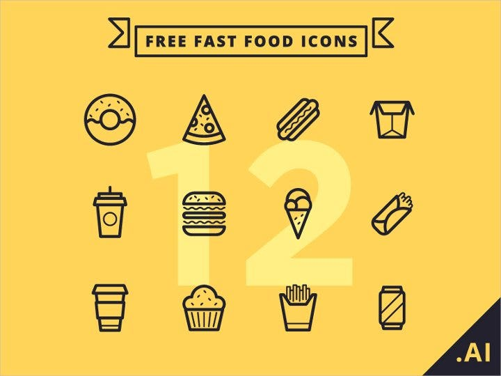 flat-fast-food-icons