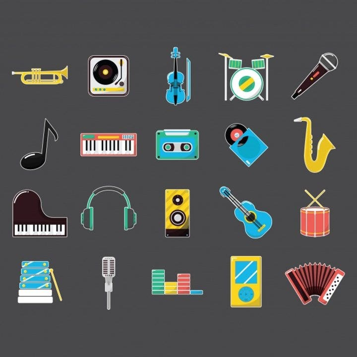 flat-music-instruments-icons