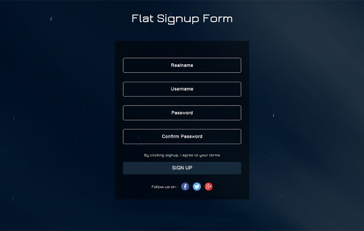 flat-signup-forms