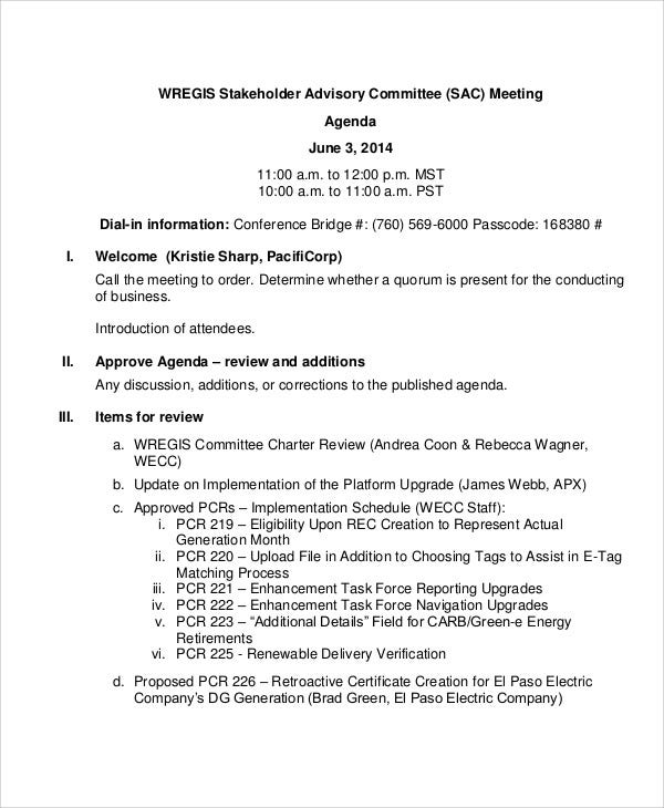 formal meeting agenda4