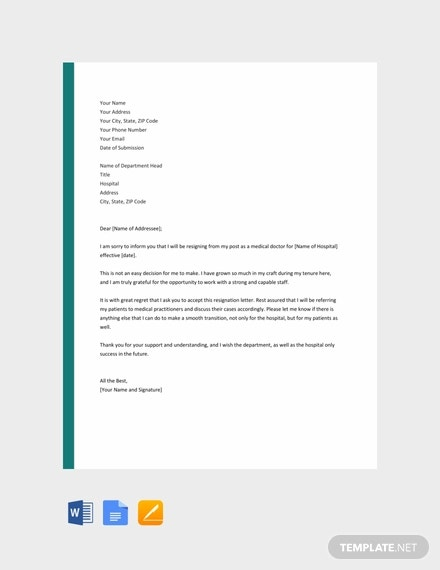 free-doctor-resignation-letter-template