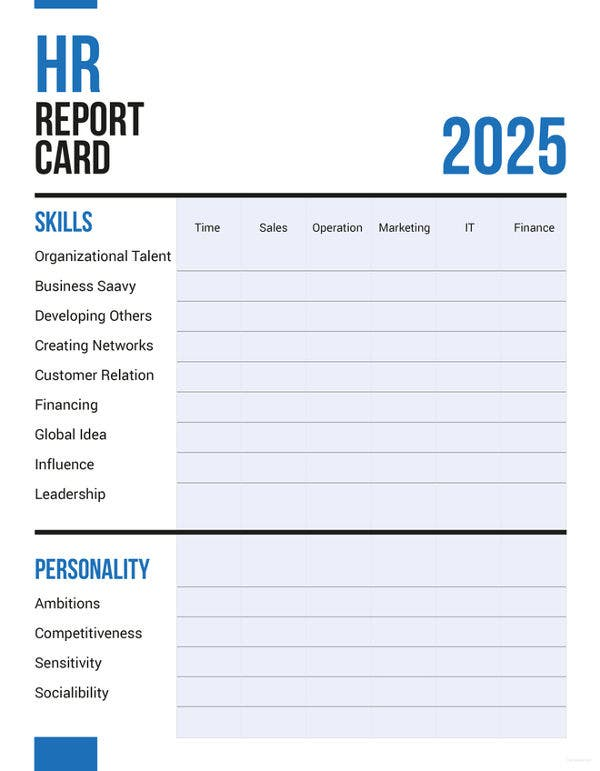 11 sample hr report templates free premium templates for Hr scorecard template free download