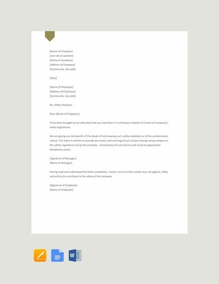 free-safety-warning-letter-template