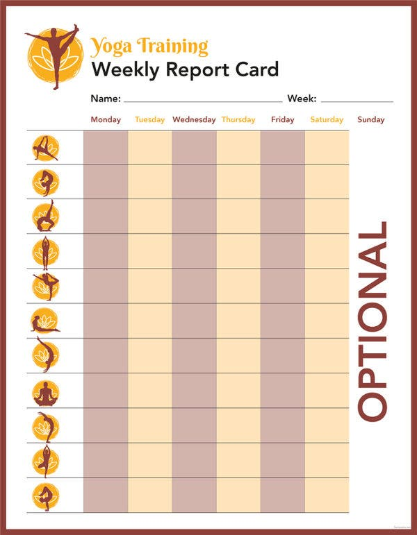 free-training-report-card-template