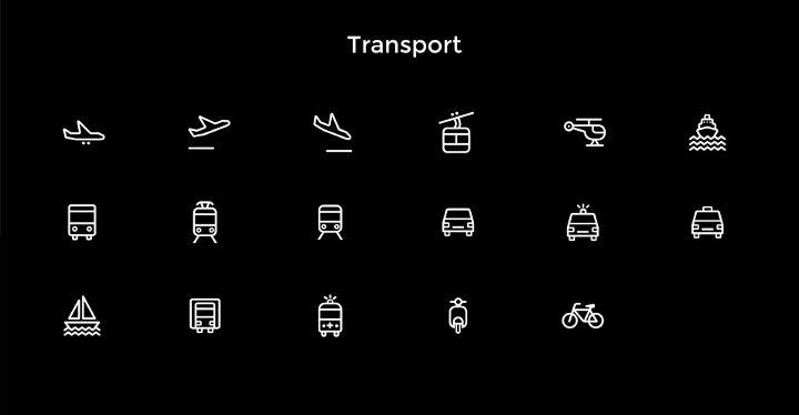 free transport icons