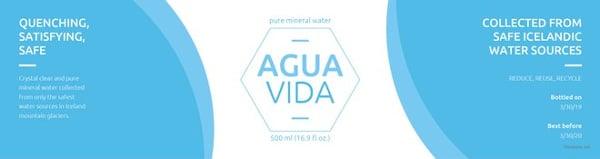 free water bottle template