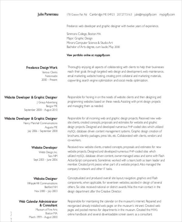 10  freelance resume templates