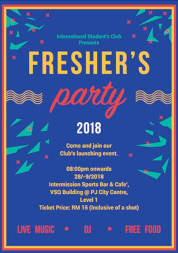freshers party invitation