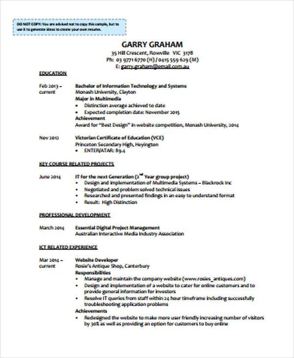 31+ CV Format Templates | Free & Premium Templates