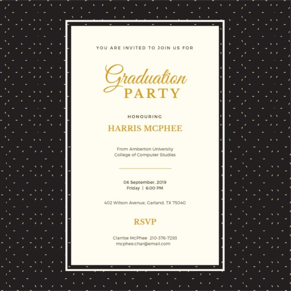Sample graduation invitations free premium templates graduation invitation template stopboris Gallery