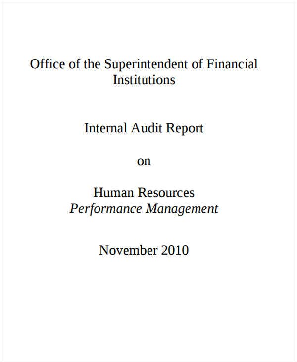 hr audit example