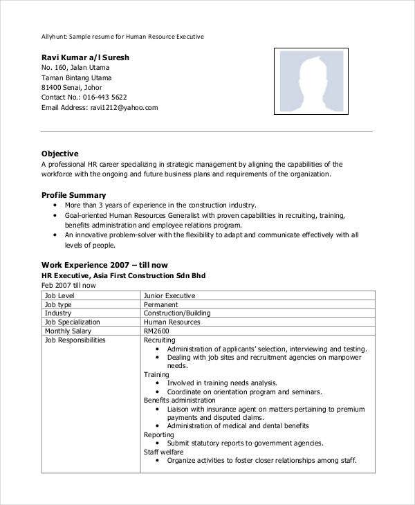 hr executive resume format1