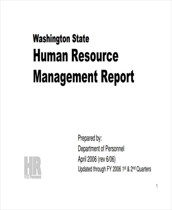 hr management report