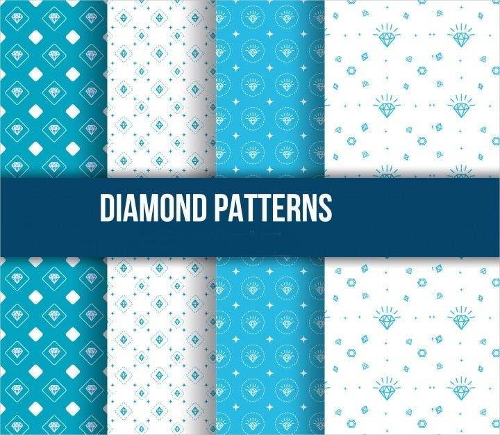 hand drawn diamond pattern1