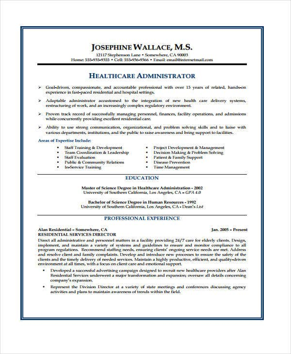 10+ Health Care Curriculum Vitae Templates