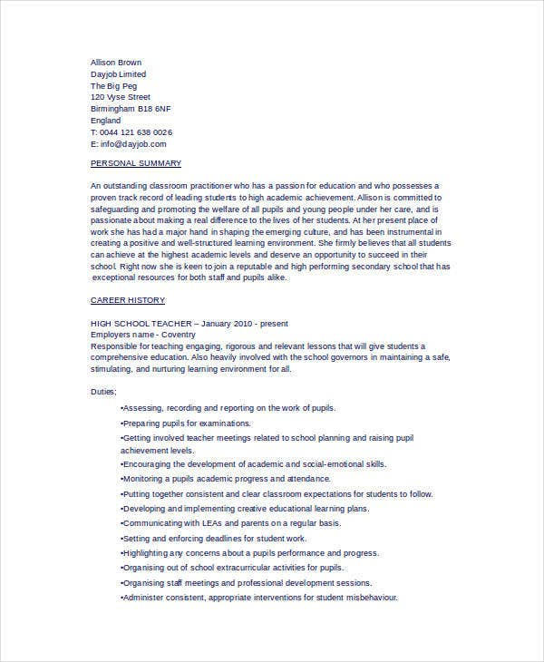High School Resume Format | Resume Format And Resume Maker