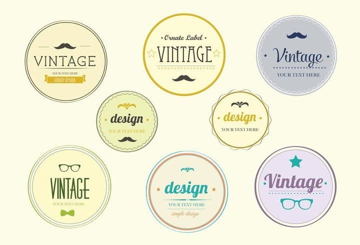 hip-vintage-badge-set