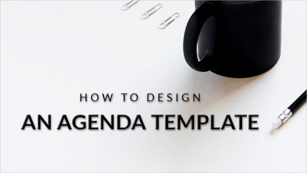 how to design an agenda template