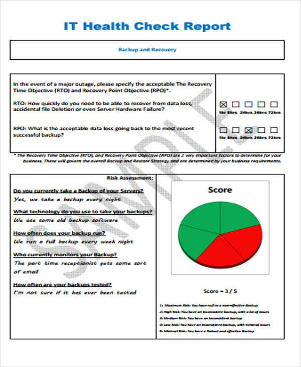 Delightful IT Health Check Report. Exciteit.com.au Ideas It Report Template