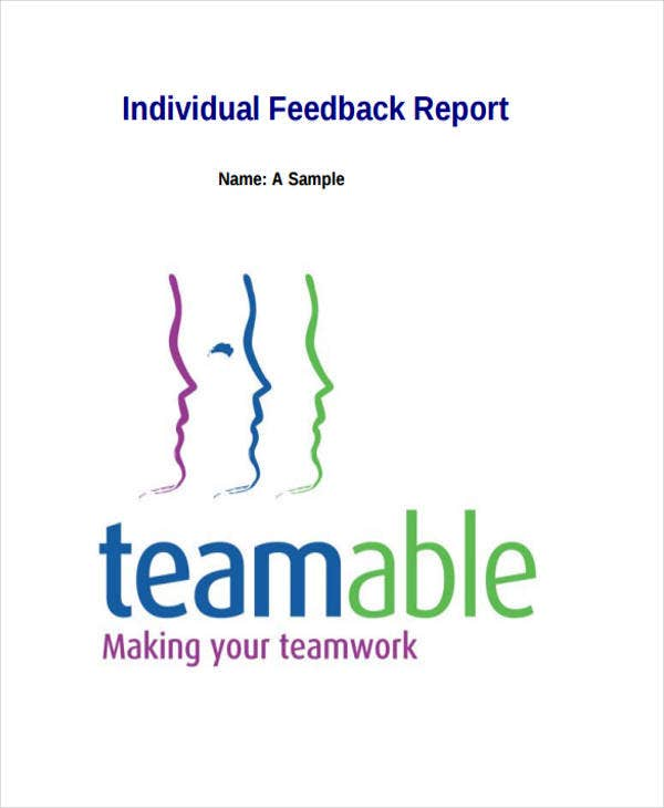 individual feedback report