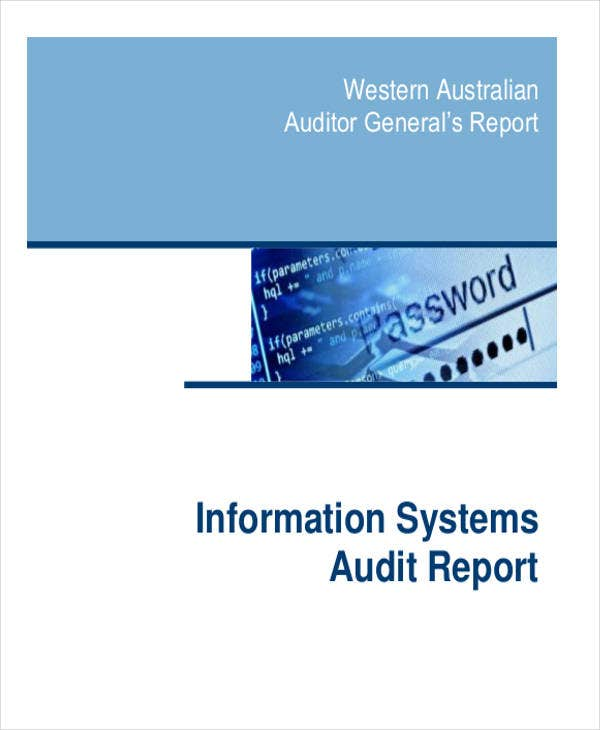 information system audit report template