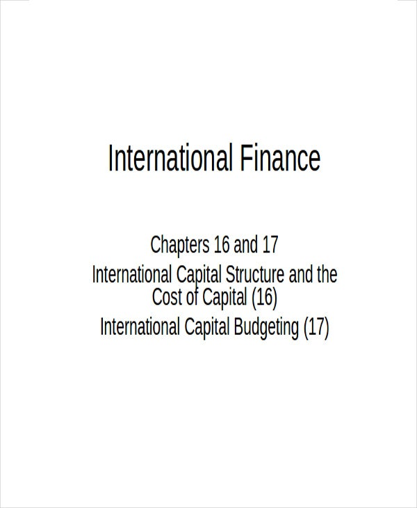 international finance1