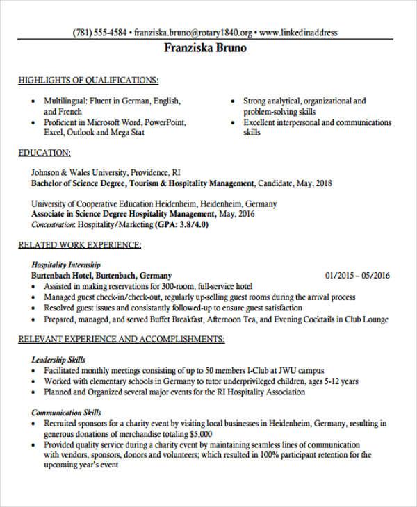 international cv format - Resume Format Germany