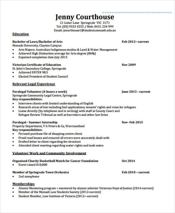 internship curriculum vitae1