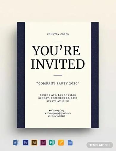 invitation flyer template