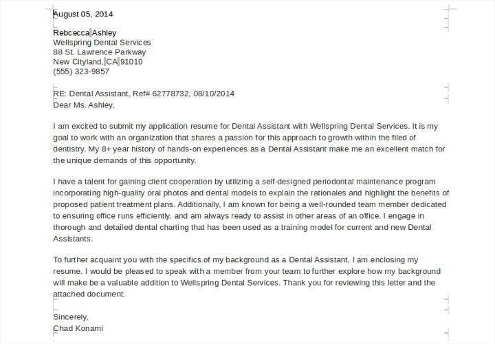 Job-Application-Letter-for-Dental-istant2 Job Application Form Dental Istant on
