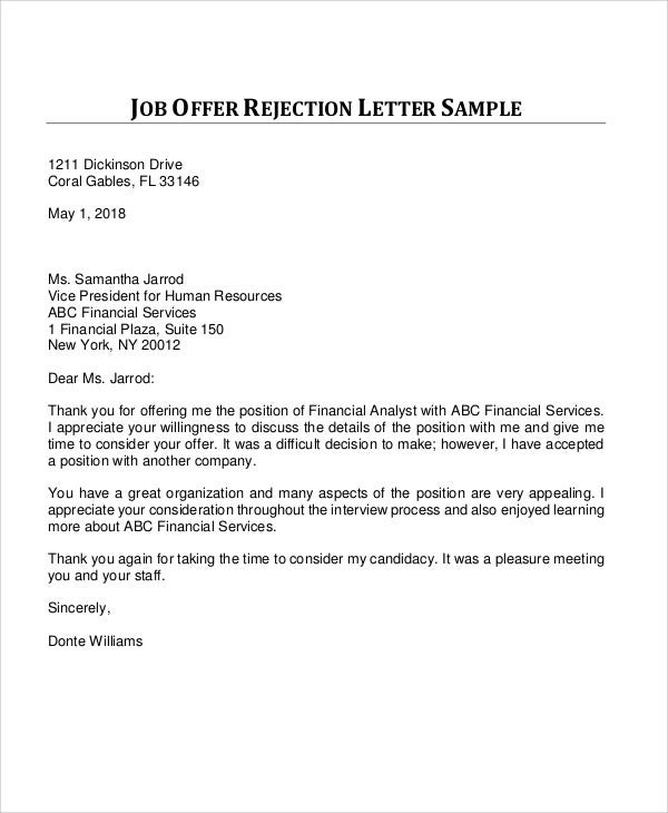 Application Rejection Letter Sample from images.template.net