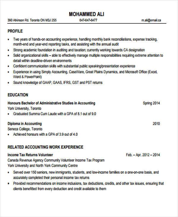 resume format junior accountant india 28 images