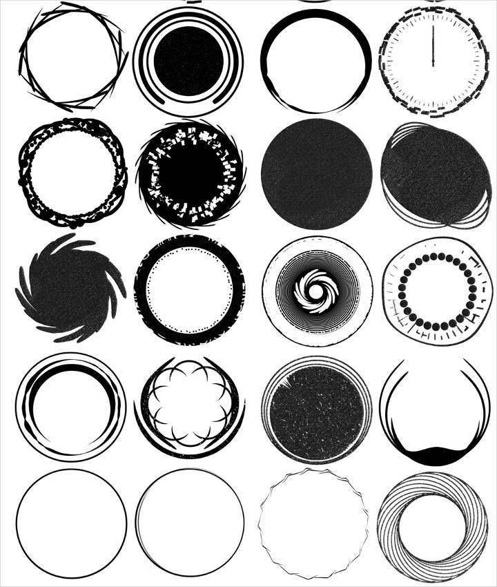 logo circle brushes