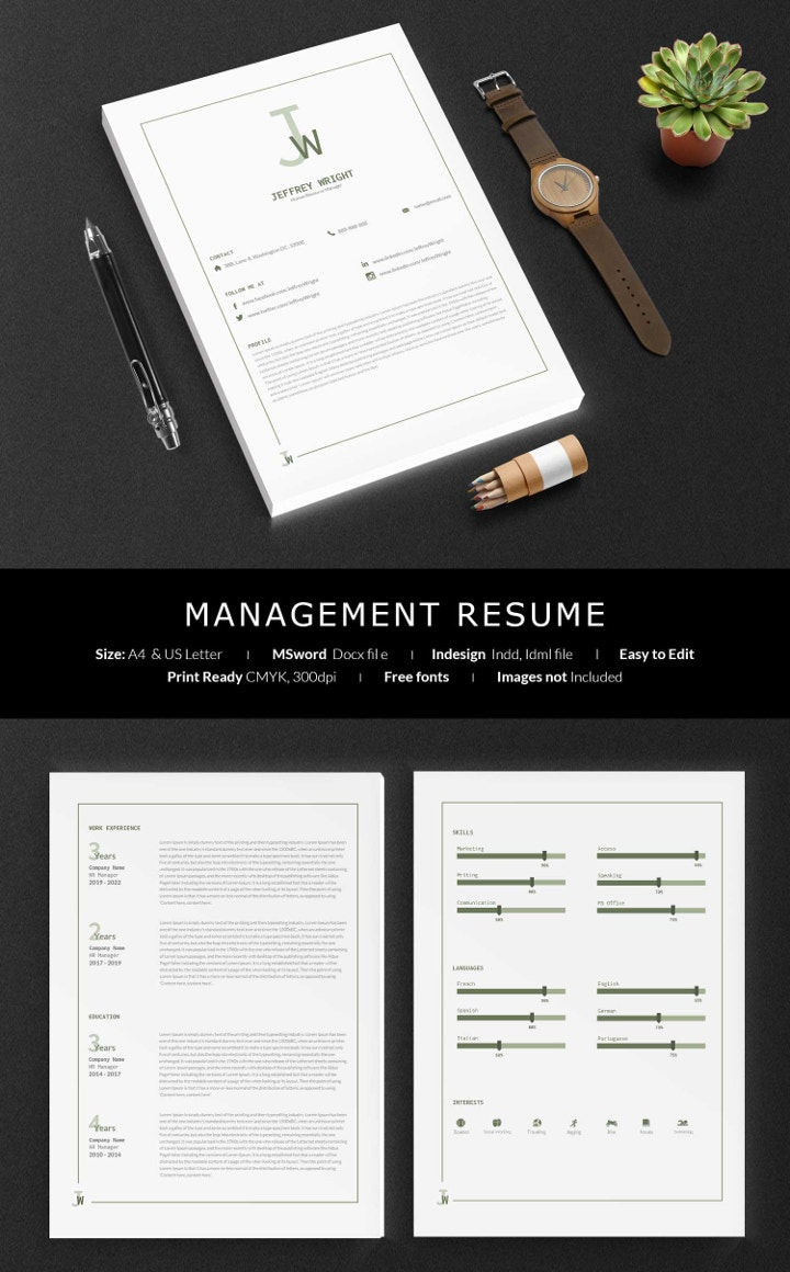 management-resume