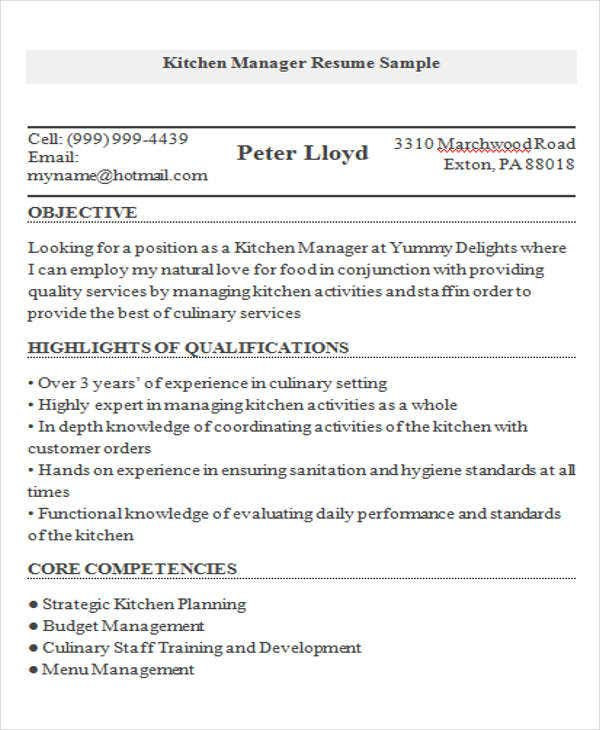 9 Cook Resume Templates  PDF
