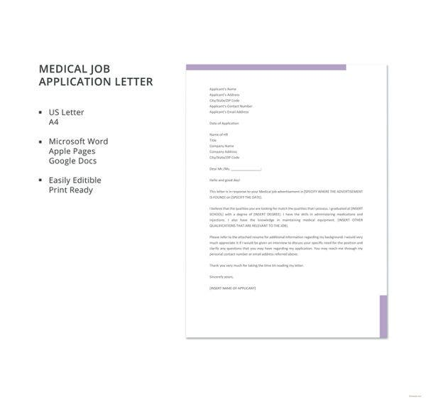 medical-job-application-letter-template