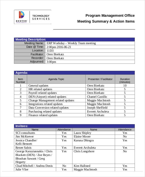 Action Agenda Templates 7 Free Word Pdf Format Download Free