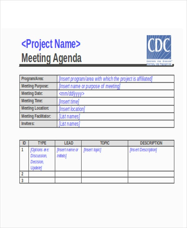 meeting agenda in doc