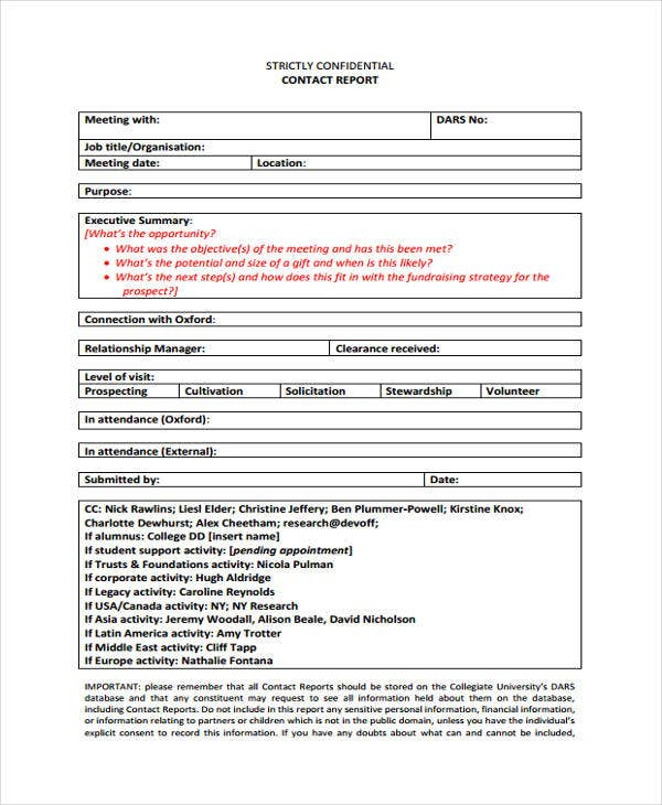 meeting contact report template1