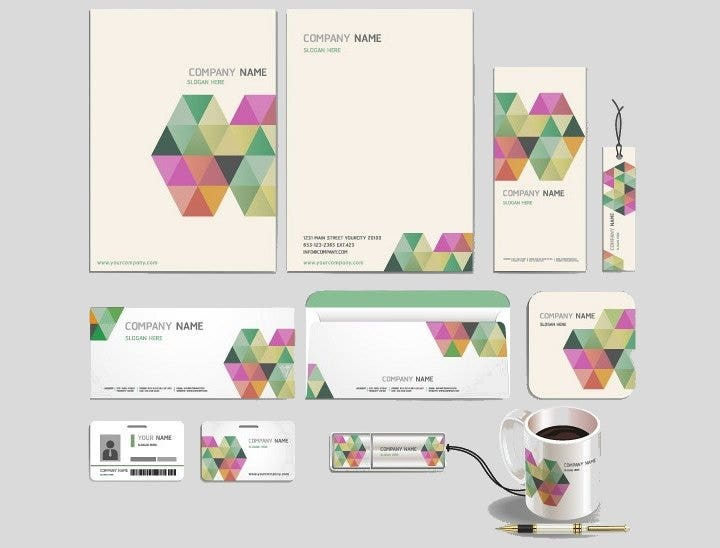 16 free stationery design templates psd jpg vector eps format modern business stationery design template accmission Images