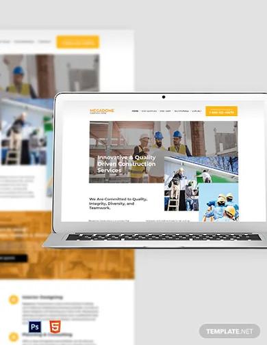 modern construction company website template