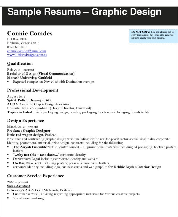 modern graphic design - Graphic Design Resume Samples Pdf