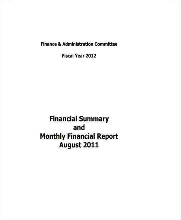 monthly financial1