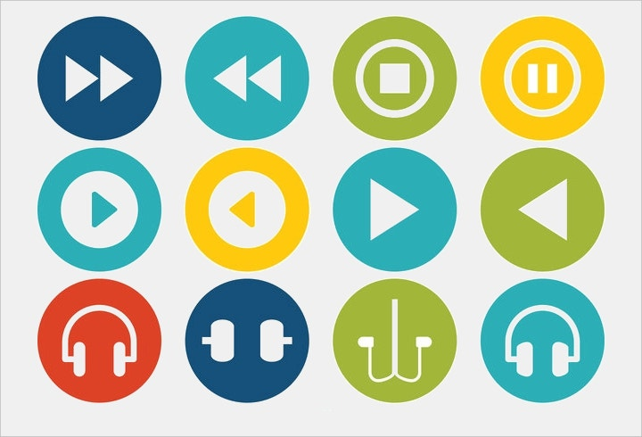 multimedia-vector-icon-set